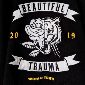 Pink! Beautiful Trauma world tour hoodie jacket xl